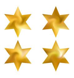 Set hexagram modern backgrounds vector