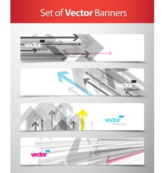 Set of abstract web banners vector image