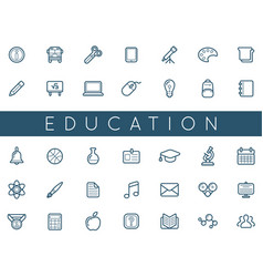Set of education icons can be used as logo or vector