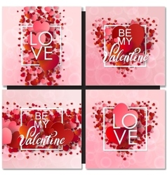 Set of Happy valentines day and weeding design vector