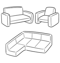 set of sofa vector image