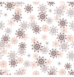 Simple pink and taupe bohemian christmas lace vector