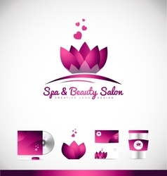 Spa beauty lotus flower logo icon design vector
