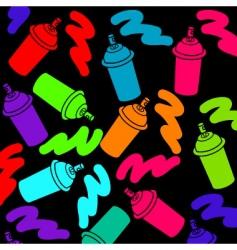 Spray cans vector