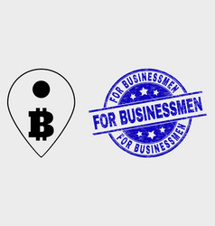 stroke bitcoin map marker icon and vector image