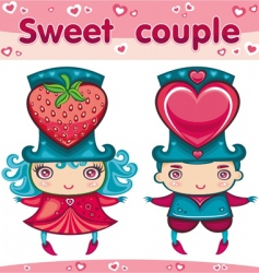 sweet couple vector image