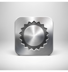 Technology Sun App Icon with Metal Texture vector