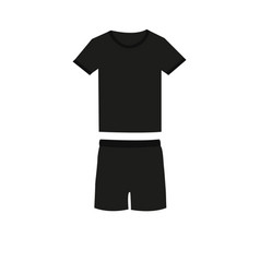 tee-shirt and shorts vector image