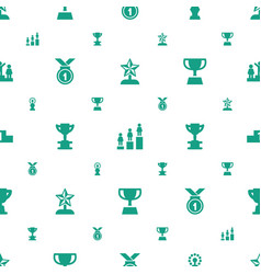 trophy icons pattern seamless white background vector image