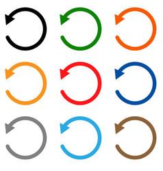 Undo icon on white background symbol flat vector