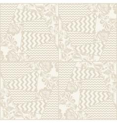 Vintage seamless patchwork pattern vector