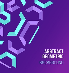 Violet purple blue abstract geometric background vector