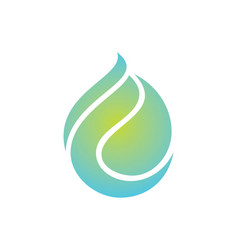 Waterdrop abstract eco logo vector