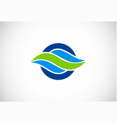 Wave air flow abstract logo vector