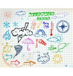 Weather sketch vector