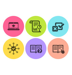 Website education survey check and checkbox icons vector