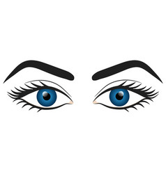 Woman blue eyes hand draw stock vector