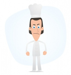 angry chef vector image vector image