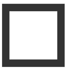 Contour square flat icon vector