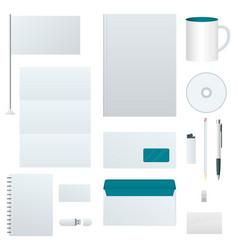 corporate identity template set branding design vector image