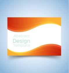flyer template wave design 5 vector image vector image