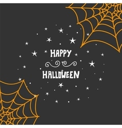 Happy halloween message design background hand vector