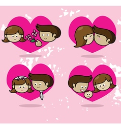 Love story Couple in love vector image vector image