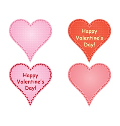 set of valentines vector image