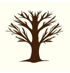 Tree without leaves terrible branches vector image vector image