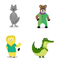 Characters predatory animals vector