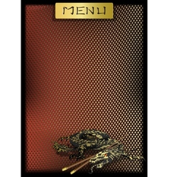 Chinese menu with dragons vector image