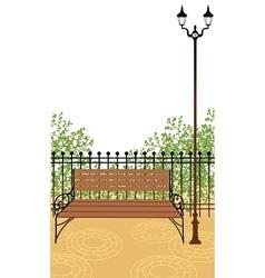 Park bench background vector