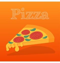 Slice of pizza margarita Flat vector image vector image