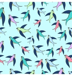 Swallow flying seamless pattern vector image