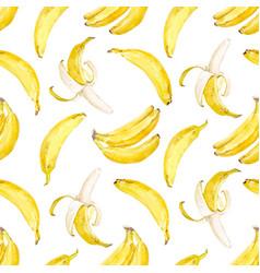 watercolor banana pattern vector image vector image