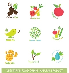 Icons and Design Elements for Organic Food vector image vector image
