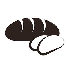 Bread and sliced bread vector image