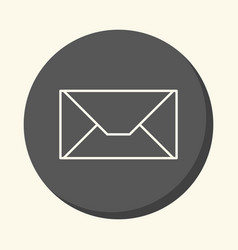 mail envelope round linear icon with the vector image vector image