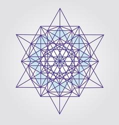 Star Tetrahedron design vector image vector image