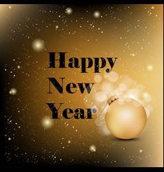 2018 happy new year background with christmas vector image