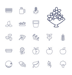 22 leaf icons vector