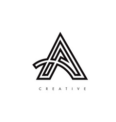 a letter design logo letter a icon logo with vector image