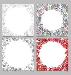 abstract round border background set with circles vector image