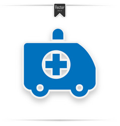 Ambulance car modern flat icon vector