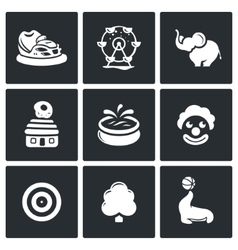 Amusement icons vector image