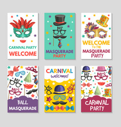 Banners or cards set with of funny vector