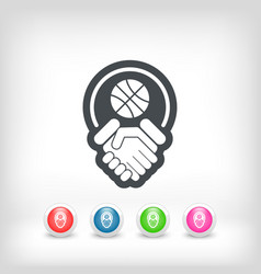 Basketball fairplay icon vector