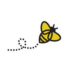Bee logo design logo vector
