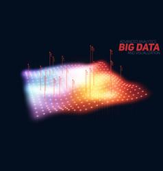 Big data plot colorful visualization vector