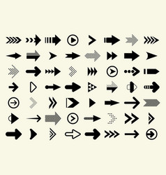 big set black arrow vector image